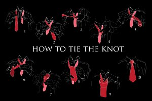 Hand drawn INSTRUCTIONS, to Tie