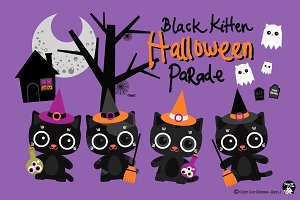 Digital Clipart Halloween Parade