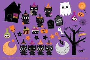 Black Kitten Halloween Parade