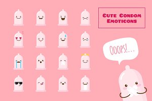 Cute and Funny Condom Emoticons