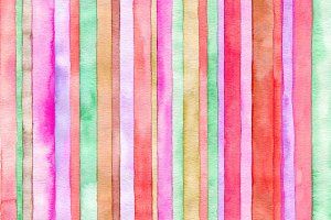 Abstract strip watercor