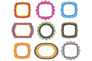 Set Colorful Frames Design
