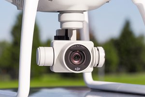 Detail lens of Drone camera
