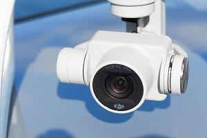 Close up lens of Drone camera