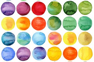 Circles Watercolor