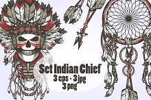 Set Indian chief