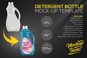 Detergent Bottle Mock-up Template