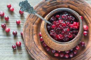 Set Of Cranberry Sauce