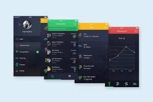 App Sport Ui (bonus app mock-up)