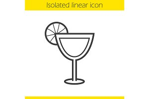 Margarita linear icon. Vector
