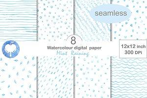 Seamless Digital Watercolor Paper