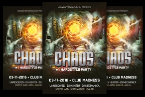 Chaos Hardstyle Party Flyer