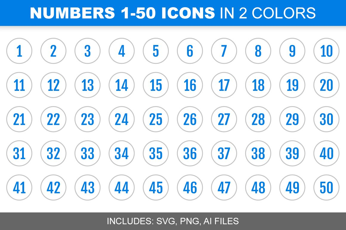 how to add numbers to icons