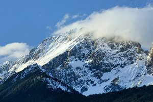 Winter Alps mountain