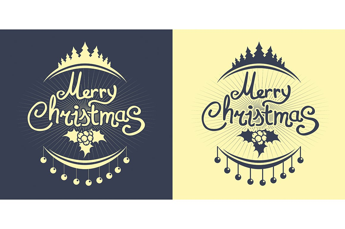 Christmas Simple Lettering Design Icons Creative Market
