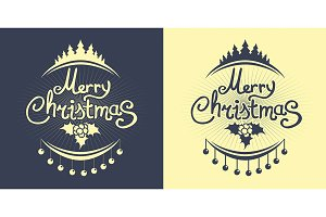 Christmas simple lettering design