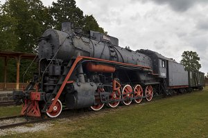 Old train locomotives