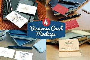 4Photorealistic Business Card Mockup