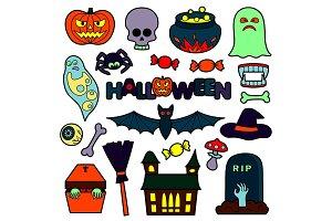 Halloween Set+3 Seamless Patterns