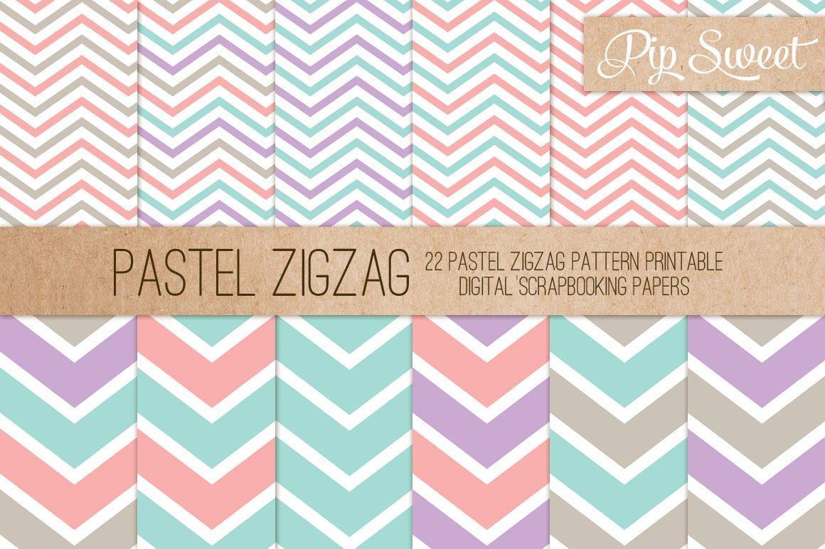 Pastel Zigzag 22 Pattern Set Patterns Creative Market