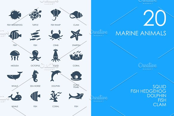 Marine animals icons