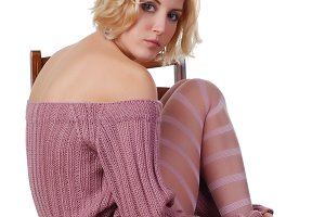 woman in a wool sweater