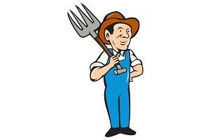 Farmer Pitchfork Shoulder Standing