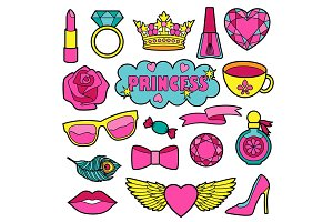 Princess Patches+2 Seamless Patterns