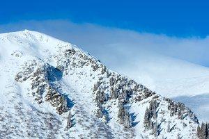 Winter Carpathian mountain, Ukraine