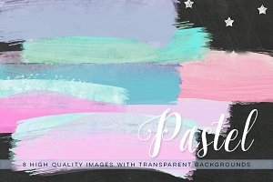 Pastel Watercolor Brush strokes