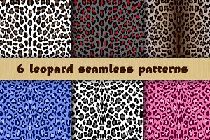 6 Seamless Leopard Patterns