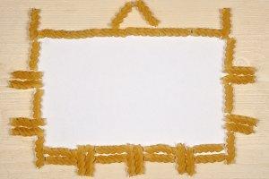 Pasta fusilli frame