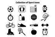 Fitness black icons