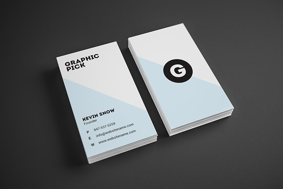 minimal business card business card templates creative market - Minimal Business Card