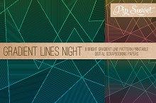 Gradient Fine Line Night 8 Patterns
