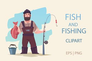 Fish and fishing set