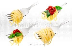 Spaghetti forks set