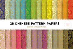 Chinese Pattern Paper - Gold Edition