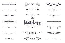 20 dividers calligraphic style