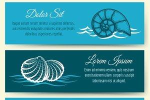 Seashell frame banners