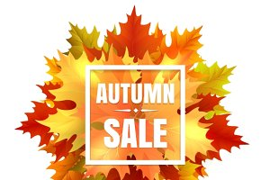 Autumn sale illustration