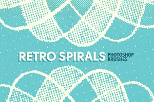 Retro Spirals Photoshop Brushes