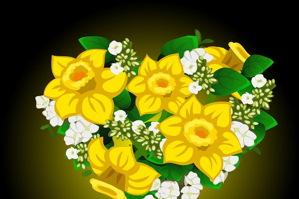 Bouquet of yellow daffodil