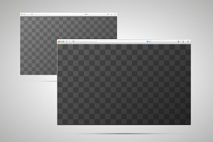 Two browser windows mock-up