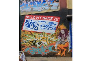 Graffiti name tag