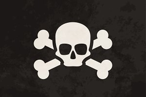 Pirate flag with grunge texture