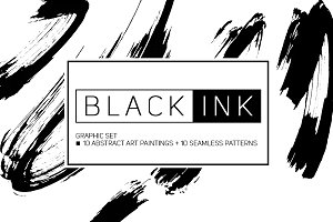 BLACK INK Graphic set