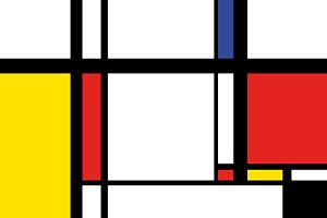 Painting in mondrian style