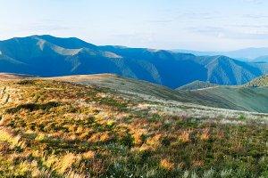 Carpathian mountain panoram, Ukraine