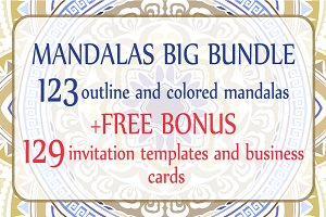 Mandalas big bundle design elements